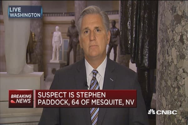 Rep. Kevin McCarthy: Las Vegas shooting 'senseless' and 'devastating'