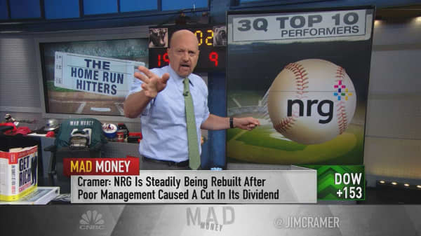 Cramer reviews the third quarter's 10 unlikely winners