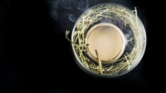 Operation Dagger's famed 'Egg' cocktail, which blends salted egg yolk, rum, vanilla and caramel