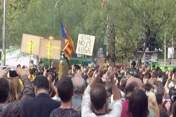 Catalonia goes on strike for independence