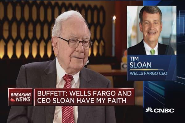 Warren Buffett: Keeping our Wells Fargo holding just under 10%