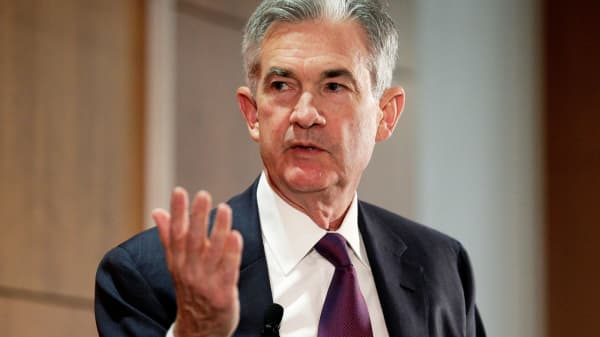 Federal Reserve Board Governor Jerome Powell discusses financial regulation in Washington, October 3, 2017.