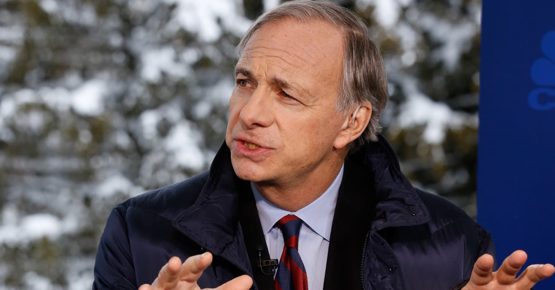 Ray Dalio, Bridgewater Associates Founder, President and CIO, in an interview at the annual World Economic Forum in Davos, Switzerland, on January 20, 2016.