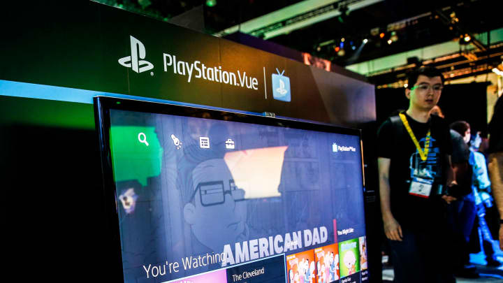 The Sony Corp. PlayStation Vue TV service is demonstrated during the E3 Electronic Entertainment Expo in Los Angeles.