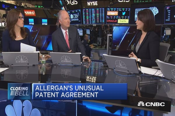 Allergan's unusual patent agreement