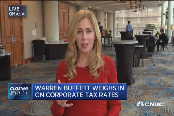 Warren Buffett weighs in on corporate tax rates