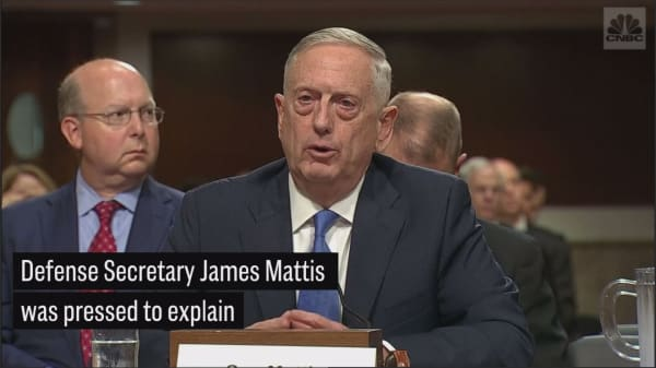 Mattis pressed to defend Trump's rejection of US-North Korea talks