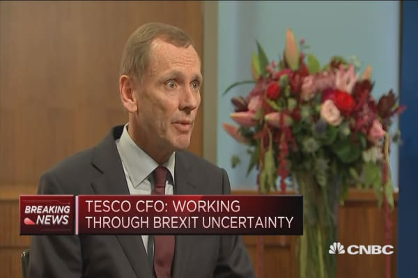 Tesco CFO: We're working through Brexit uncertainty