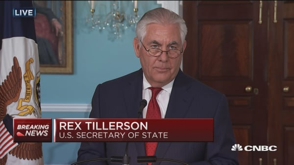 Watch Secretary of State Rex Tillerson's full statement