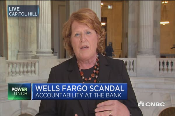 Sen. Heidi Heitkamp: Wells Fargo dodged upper management accountability