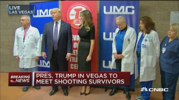 Trump: We're with Las Vegas victims 100%