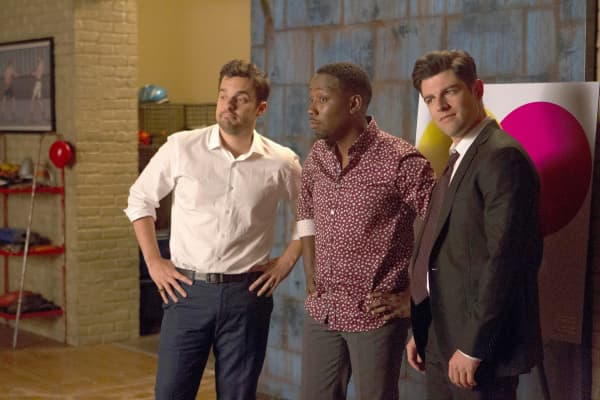 "Jake Johnson, Lamorne Morris and Max Greenfield in Fox's ""New Girl."""