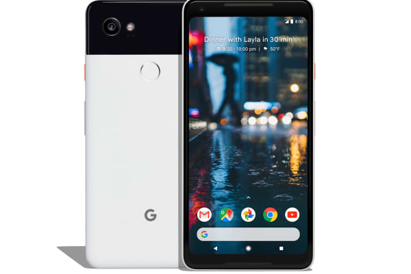 The Google Pixel 2, which comes with the Google Assistant.