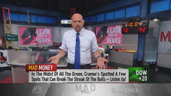 Cramer reveals the market's top 10 actionable negatives