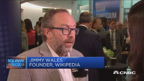 No one wants to be in a world where Facebook decides content, Wikipedia founder says