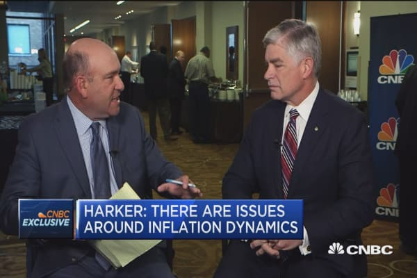 Fed's Patrick Harker: It's still a 2 percent economy