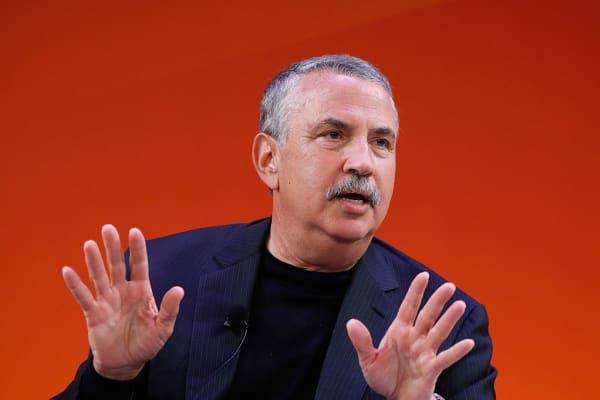 Thomas L. Friedman speaks during Advertising Week New York in September 2016