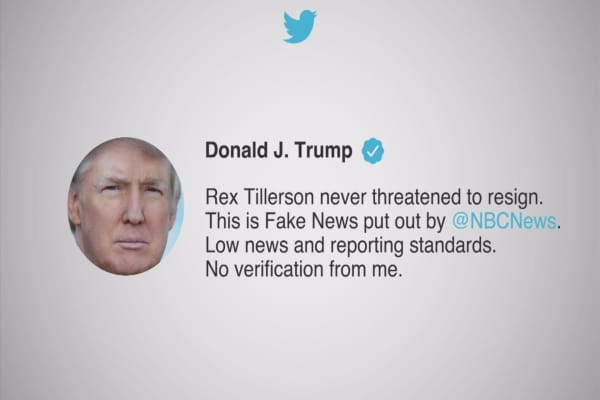 Trump fuming over report that Tillerson considered resigning