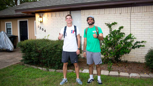 Ben Chubb, left, and roommate Randy Rios.