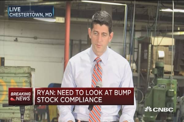 House Speaker Ryan: There's a lot of economic anxiety among middle-class taxpayers
