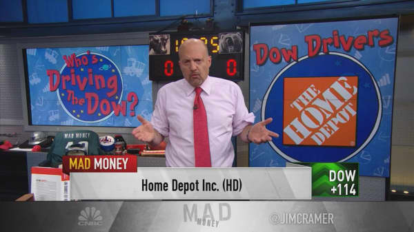 Cramer breaks down the Dow's top 10 drivers from last quarter