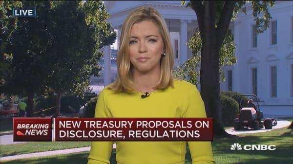 New treasury proposals on disclosure, regulations