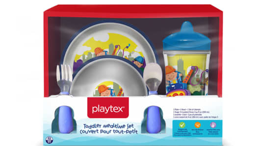 Playtex-branded plastic plates and bowls for children are being recalled after the distributor received four reports of choking in Canada.