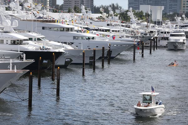 The 56th Fort Lauderdale International Boat Show on November 6, 2015