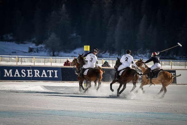 Snow Polo World Cup St. Moritz 2017 on January 29, 2017
