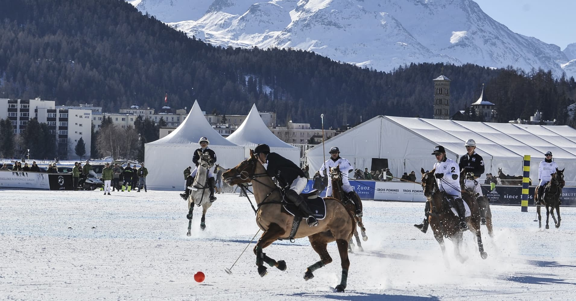 Billionaires will be attending events like the Snow Polo World Cup St. Moritz in January