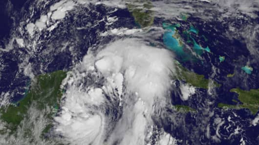 Tropical Storm Nate on Oct. 6th, 2017.
