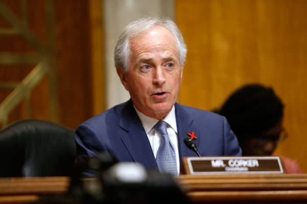 Chairman Sen. Bob Corker speaks during a Senate Foreign Relations Committee hearing on Feb. 15, 2017 in Washington, DC.
