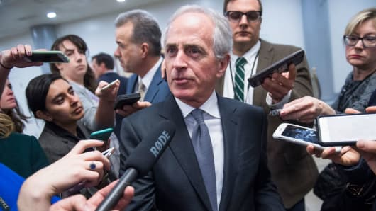 Corker Dismisses Latest Trump Tweet Slamming Him as 'Daily Silliness'