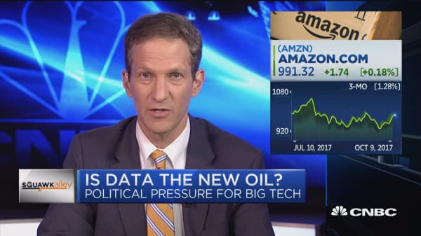 Is data the new oil? Big tech companies face political pressure