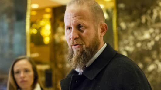 Brad Parscale, digital director for U.S. President-elect Donald Trump, speaks at Trump Tower in New York, Dec. 3, 2016.