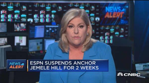 ESPN suspends anchor Jemele Hill for 2 weeks