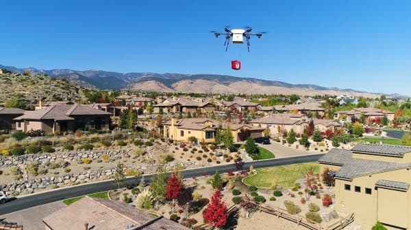 Flirtey drones will deliver defibrillators to victims of cardiac arrest in Nevada.