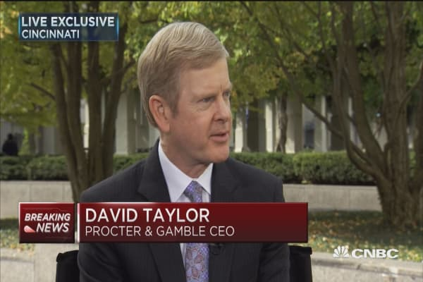 P&G CEO David Taylor: I'm happy about preliminary vote results