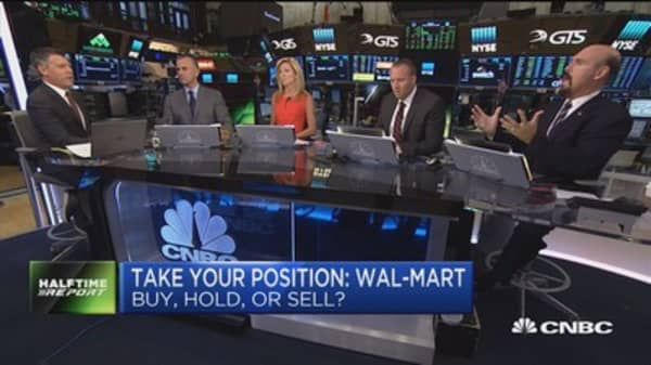 Wal-Mart trading at highs not seen since February 2015