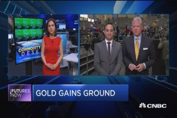 Gold gains ground