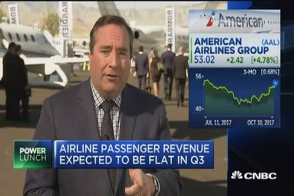 Airline passenger revenue expected to be flat in Q3
