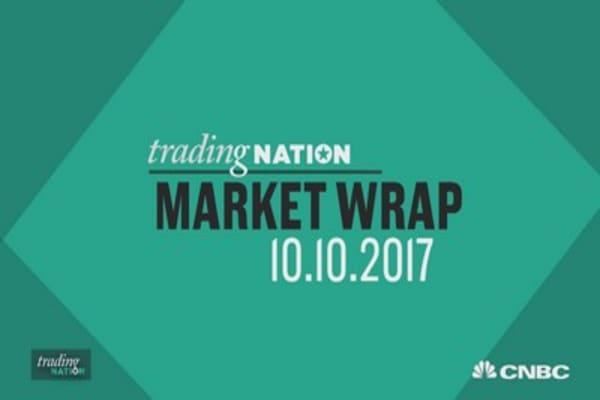 Dow closes at record high after Wal-Mart surges on $20 billion buyback