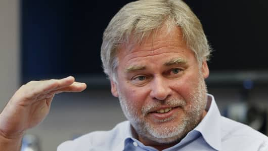 Eugene Kaspersky, chairman and CEO of Kaspersky Lab, answers a question during an interview in New York March 10, 2015.