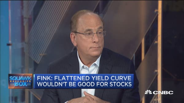 BlackRock's Larry Fink: We want to avoid an inverted yield curve. Here's why