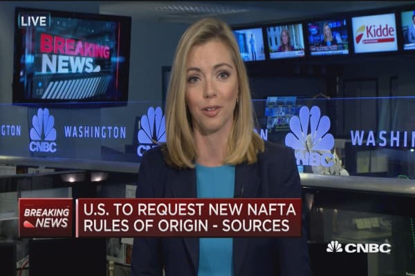 US to request new NAFTA rules of origins: Sources