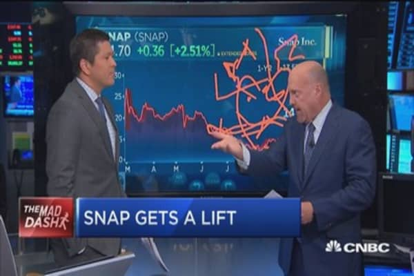 Cramer: I'm encouraged by a call for a nearly 40% rise in Snap stock