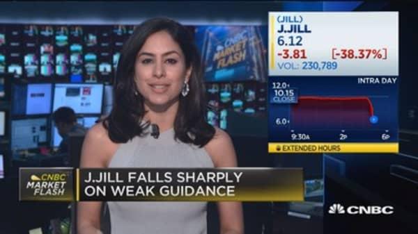 J. Jill falls sharply on weak guidance