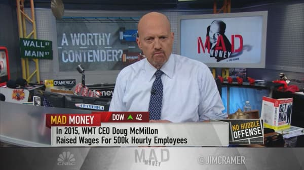Cramer: Why Amazon's No. 1 rival, Wal-Mart, isn't done going higher