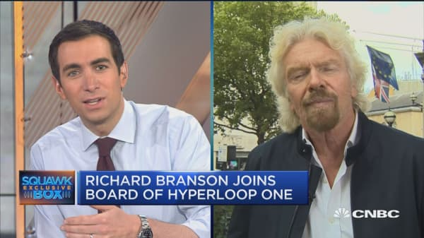 Sir Richard Branson joins board of Hyperloop One