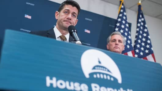 Speaker Paul Ryan, R-Wis., and House Majority Leader Kevin McCarthy, R-Calif.